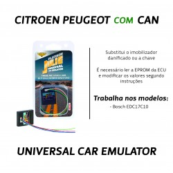CHIPART.PT - 0102-001-5 - Citroen, Peugeot com CAN - ver 2 (USA PIN) - Julie Emulador Universal