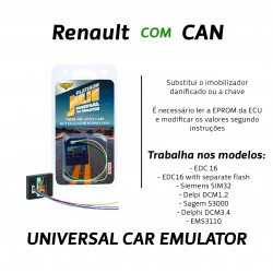 CHIPART.PT - 0102-001-18 - Renault com CAN - ver 2 - Julie Emulador Universal