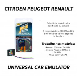 CHIPART.PT - 0102-001-20 - TMS374 - Citroen, Peugeot, Renault - Julie Emulador Universal