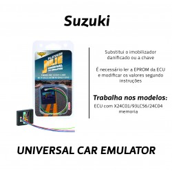 CHIPART.PT - 0102-001-32 - Suzuki com OKI e memoria X24C01 - Julie Emulador Universal